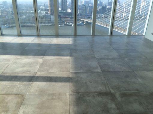 140 m2  80 x 80 gerectificeerd vloertegel